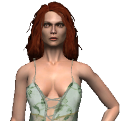 Triss in her nightie.