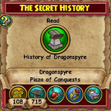 The Secret History Quest (Plaza of Conquests)
