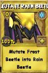 Mutate Rain Beetle Treasure Card