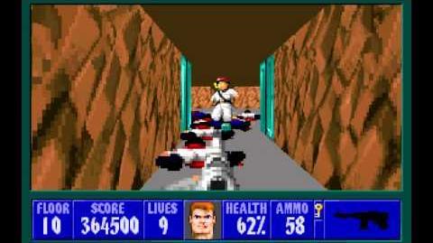 Wolfenstein 3D (id Software) (1992) Episode 6 - Confrontation - Floor 10 HD