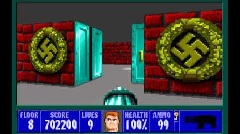 Wolfenstein 3D (id Software) (1992) Episode 1 - Escape From Castle Wolfenstein - Floor 8 HD