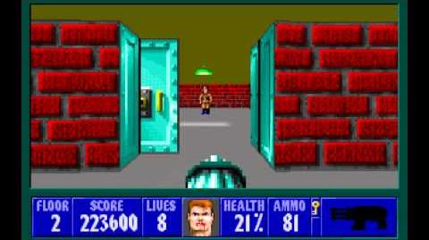 Wolfenstein 3D (id Software) (1992) Episode 2 - Operation Eisenfaust - Floor 2 HD