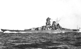 HIJMS Yamato at sea for trials, October 1941