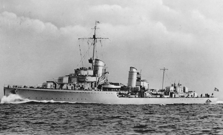 Billedresultat for Type 1934-class destroyer