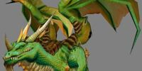 Grüner Drachenschwarm