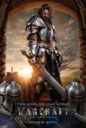 Warcraft movie poster - King Llane