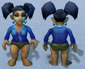 Blue Linen Shirt, Snow Background, Gnome Female.png