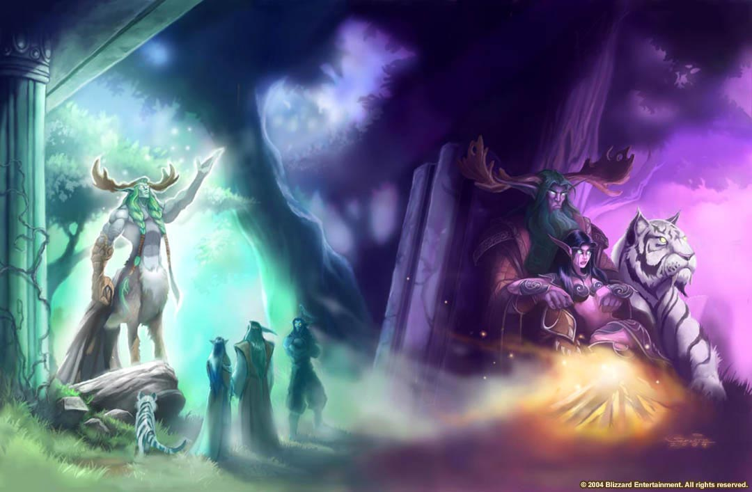 Cenarius Instructs Tyrande Whisperwind Wallpaper