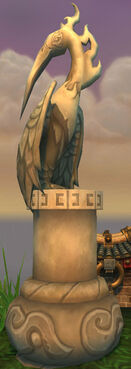 Gleaming Crane Statue