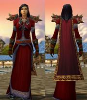 Crimson Silk Set with Robe