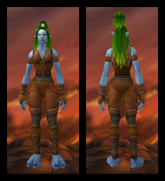 Troll Female Worn Leather Fashion Set