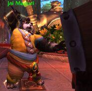 Jai Maguri about to hit the Drum