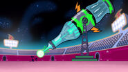 S1e9b Giant laser aims down at Wander and Sylvia