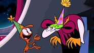 S1e9b Wander and Lord Hater wearing party hats