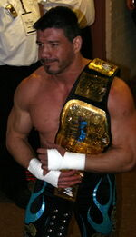 Eddie Guerrero with belt