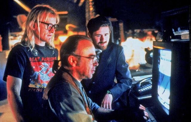 File:Langly Frohike Byers The Lone Gunmen Production Still.jpg