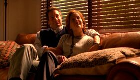 Fox Mulder and Dana Scully as Rob Petrie and Laura Petrie
