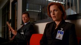 John Doggett and Dana Scully meet