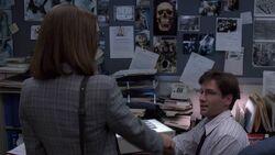 Dana Scully meets Fox Mulder