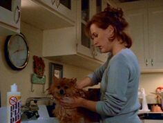 Queequeg is bathed by Dana Scully