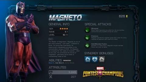 Marvel Contest of Champions Magneto Motion Comic