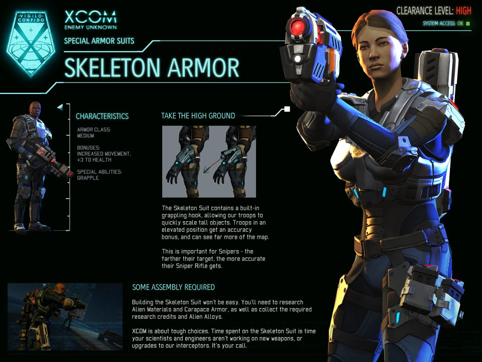 Xcom Enemy Unknown Alien Types XCOM-EU Skeleton Armor