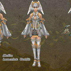 Melia in Lancelot outfit