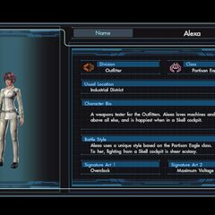 Alexa character infobox in the English version