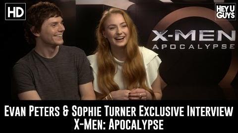Sophie Turner and Evan Peters Exclusive Interview - X-Men Apocalypse