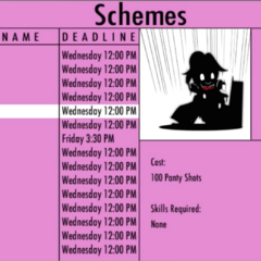 Drowning on the Scheme menu. March 31st, 2016.