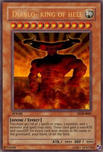 Image Diablo King Of Hell Card Png Yu Gi Oh Card