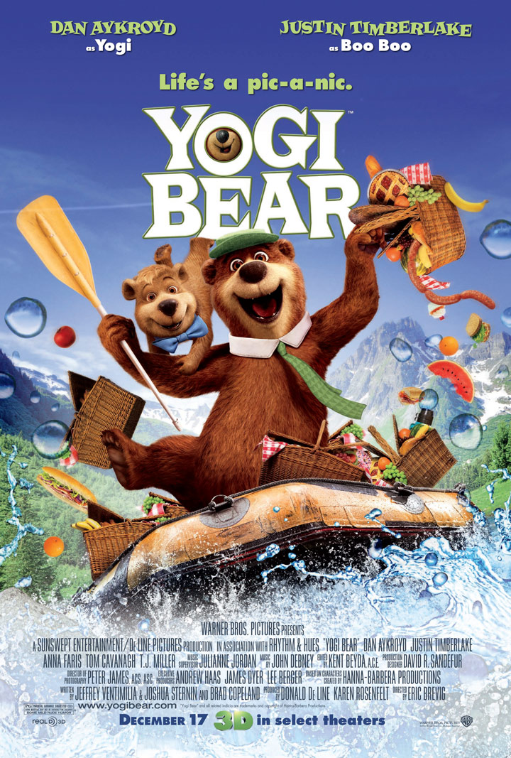 Yogi Bear 2010 3D HSBS 480p HDTV Full Length Movie