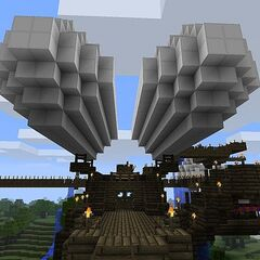 A Skylord's airship (a regular sight in Mistral).