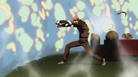 Aqualad stops bomb