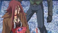 Sayer gives Akiza his coat