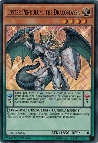 Luster Pendulum, the Dracoslayer