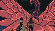 5Dx140 Black Rose Dragon saves everyone