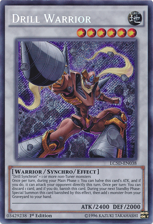 drill warrior yugioh fandom powered by wikia