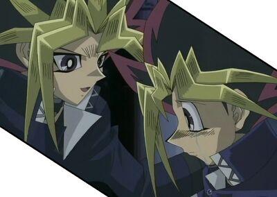 Final-Duel Yugi-crying-Yami-consoling
