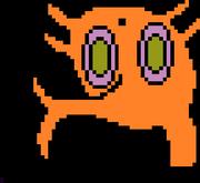 A strange orange creature