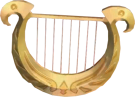 Skyward Sword Goddess's Harp (Render)