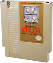 The Legend of Zelda Gold NES Cartridge