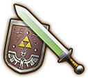 File:Hyrule Warriors Light Sword Hero's Sword & Hero's Shield (Level 1 Light Sword).png