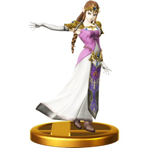 File:Super Smash Bros. for Wii U Trophies Princess Zelda (Classic Trophy Render).png