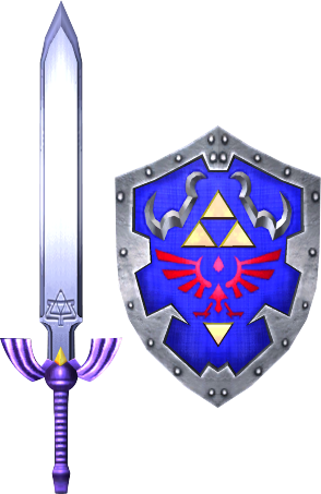 File:Master Sword and Hylian Shield (Soul Calibur II).png