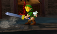 Hyrule Warriors Legends Young Link Keaton Mask & Kokiri Sword (Battle Intro)