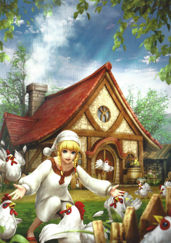 File:Hyrule Warriors Legends Artwork Linkle & her Cucco (Artbook Portrait).png