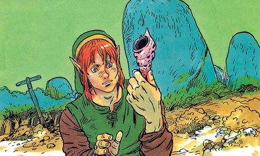 File:Link and a Secret Seashell.png
