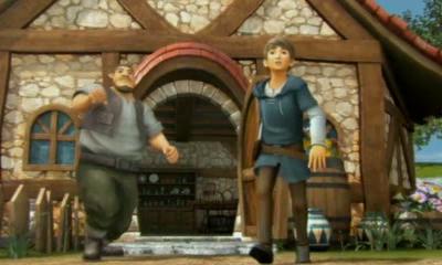 File:Hyrule Warriors Legends Linkle's Tale Villagers watch as Linkle leaves for Hyrule Castle (Cutscene).png