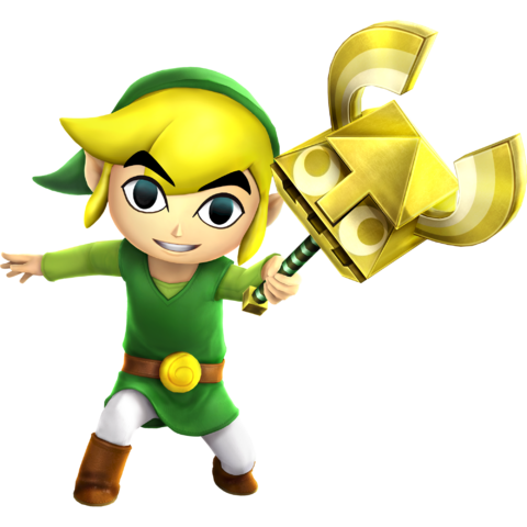 File:Hyrule Warriors Legends Toon Link Sand Wand (Render).png